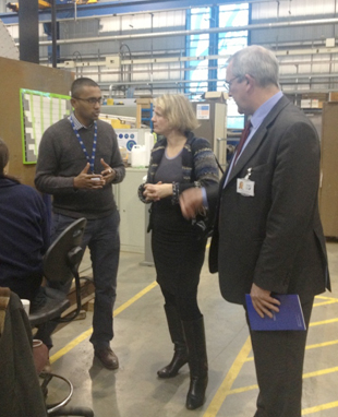 MEP for the East of England visits TWI