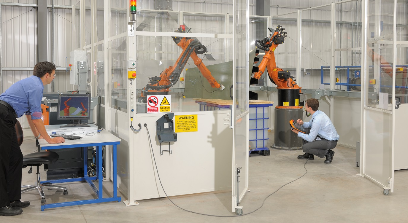 New twin robot work cell for automated NDT.