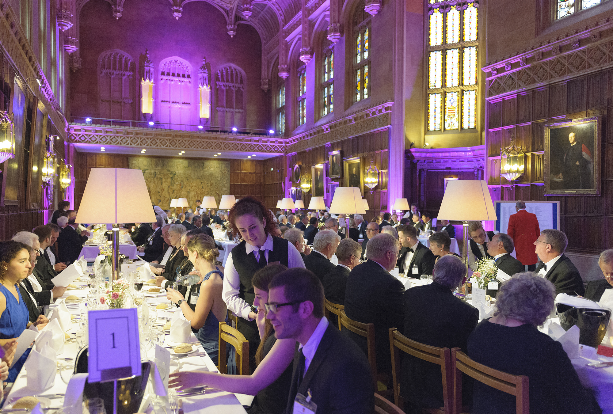 Guests enjoy dinner at King's College, Cambridge during The Welding Institute Annual Awards and Dinner 2016