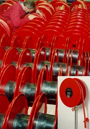 Hose reel production efficiency is greatly improved