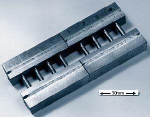 Electron beam welding can be used in the fabrication of specimens where limited material is available