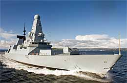 A Type 45 destroyer Photograph courtesy of BVT Surface Fleet