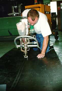 Candidate extrusion welding during an examination