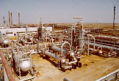 General view of Kazakhstan gas plant