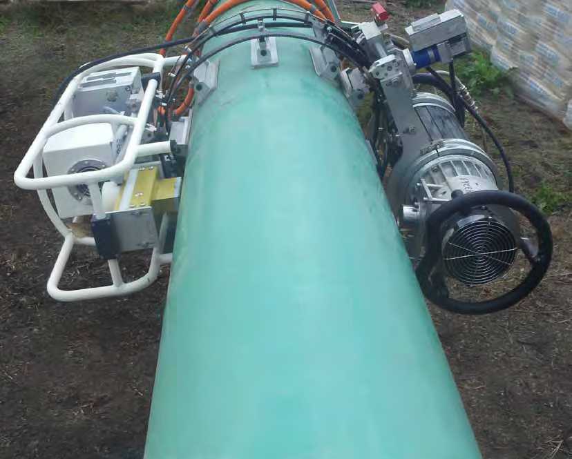 Portable Real Time Radiographic unit for pipeline inspection Courtesy Shaw Pipeline Services..