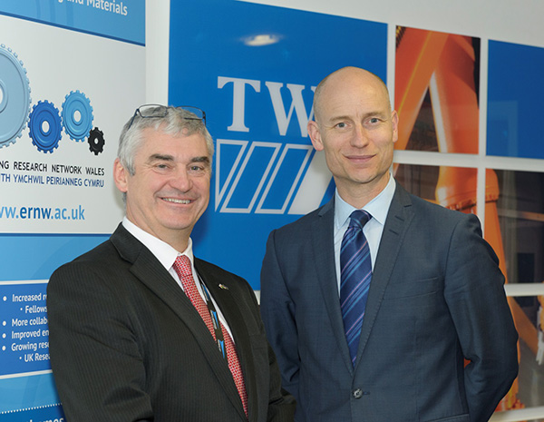 Stephen Kinnock MP with Philip Wallace Regional Manager TWI Wales.