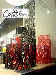 Cohda's products on display in New York at the International Contemporary Furniture Fair