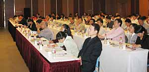Attendees at the TWI seminar in China which was held at Jiaotong University in Shanghai
