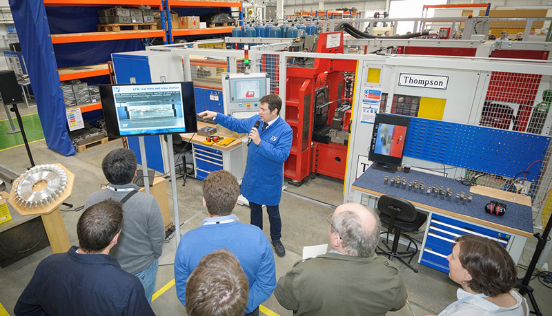 Linear friction welding demonstration - TWI industrial tour
