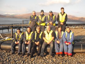plastics welding training course to Fusion Marine, Scotland.