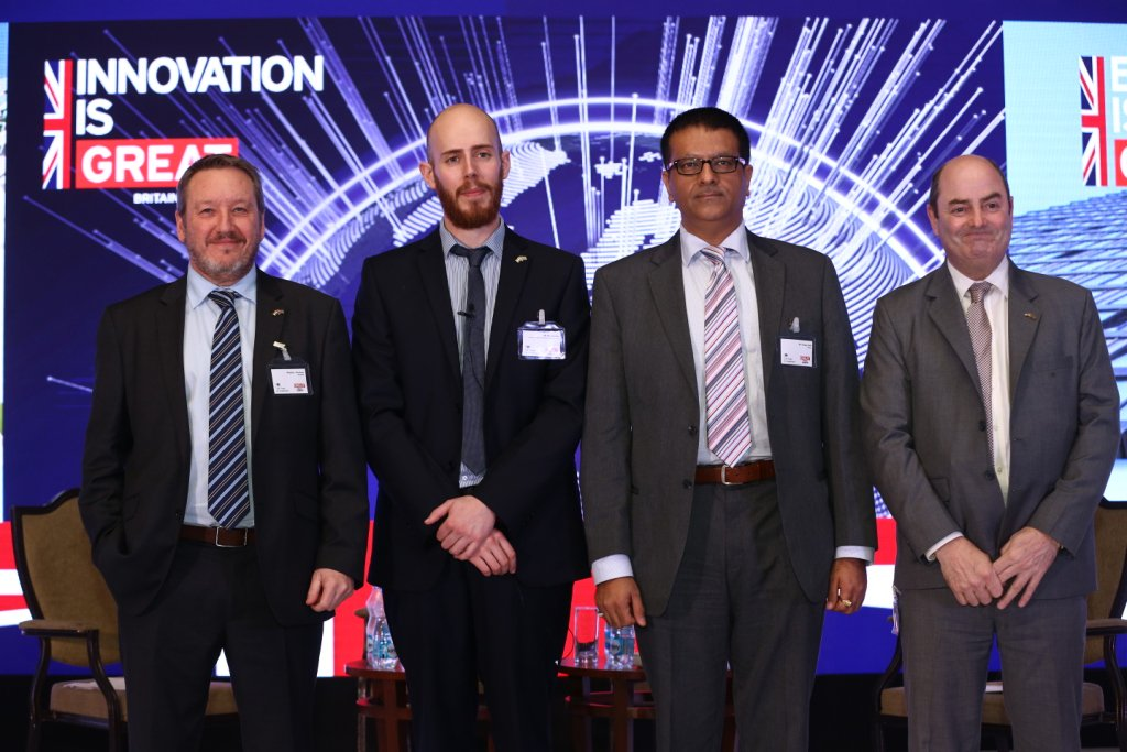 Chris Wiseman with other speakers at UK-India Manufacturing Week