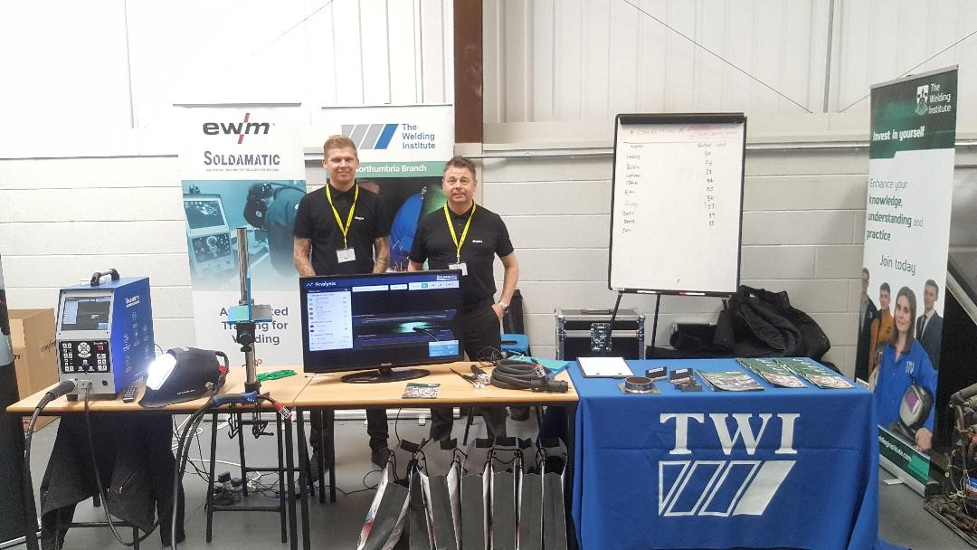 EWM UK's virtual reality welder and the TWI / Welding Institute stand