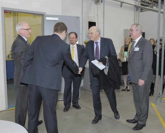 Vince Cable tours the laser department at TWI