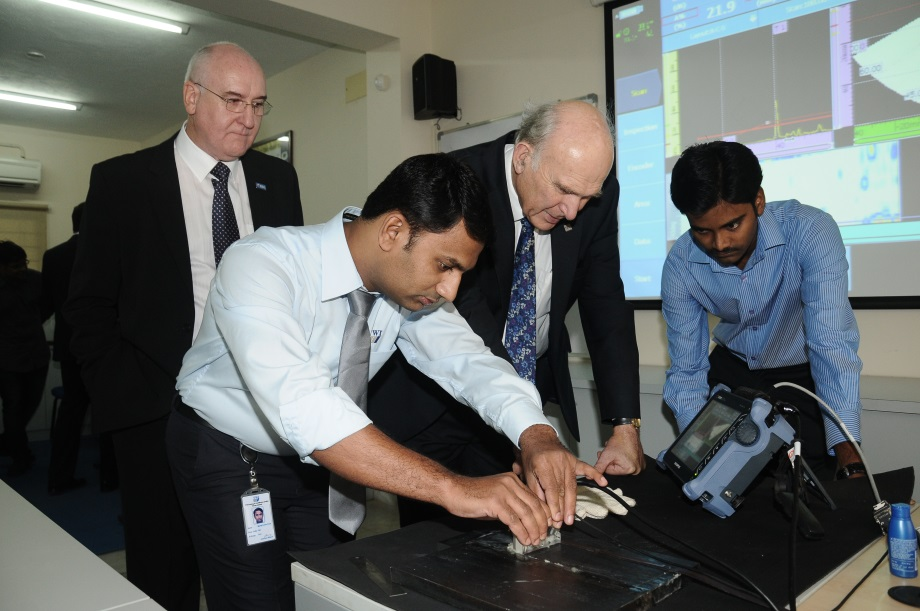 Vince Cable India visit promotes UK business successes.