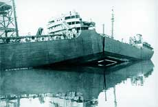 The SS Schenectady, an all welded tanker, broke in two whilst lying in dock in 1943. Principal causes of this failure were poor design and bad workmanship