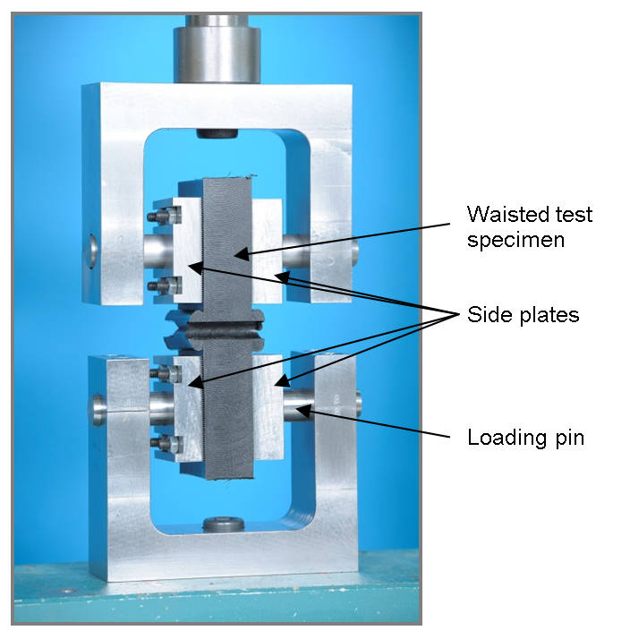 Fig. 18 Experimental set up for tensile test with waisted specimen